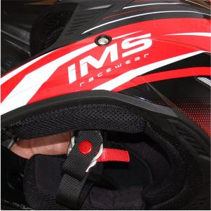 Para maior segurança, os capacetes usam cintas com fechamento profissional 0966331fa8