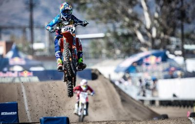 Marvin Musquin race during Red Bull Straight Rhythm in Pomona, CA, USA on October 22, 2016.