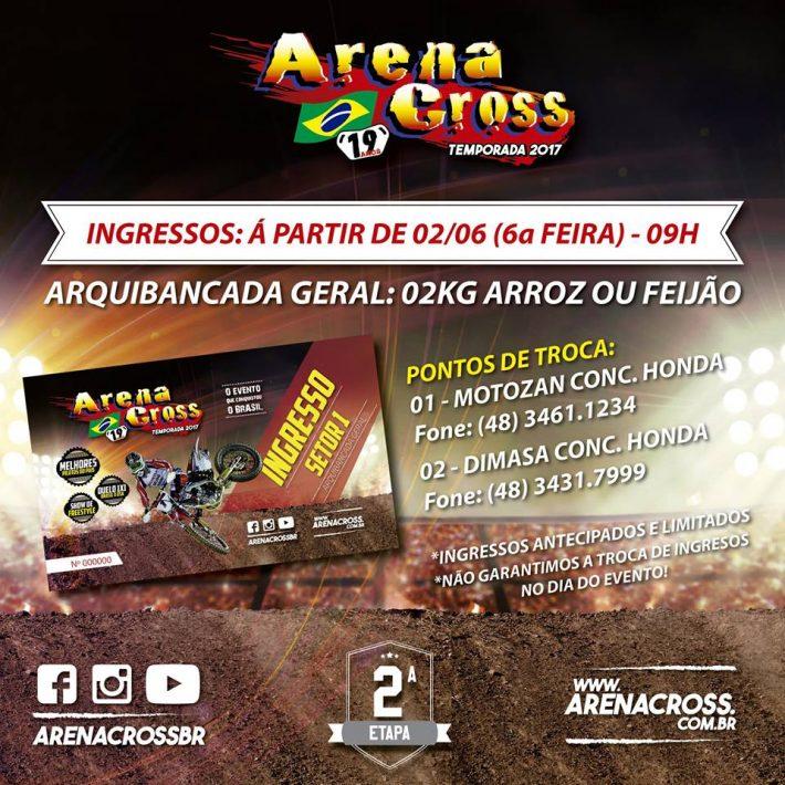 ingresso Arena Cross Criciúma