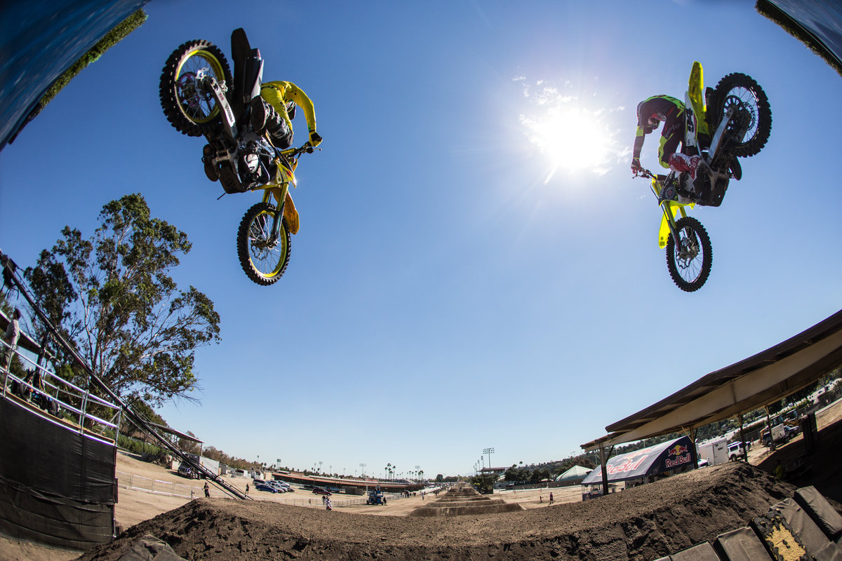 XXXX qualify during Red Bull Straight Rhythm in Pomona, CA, USA on October 09, 2015.