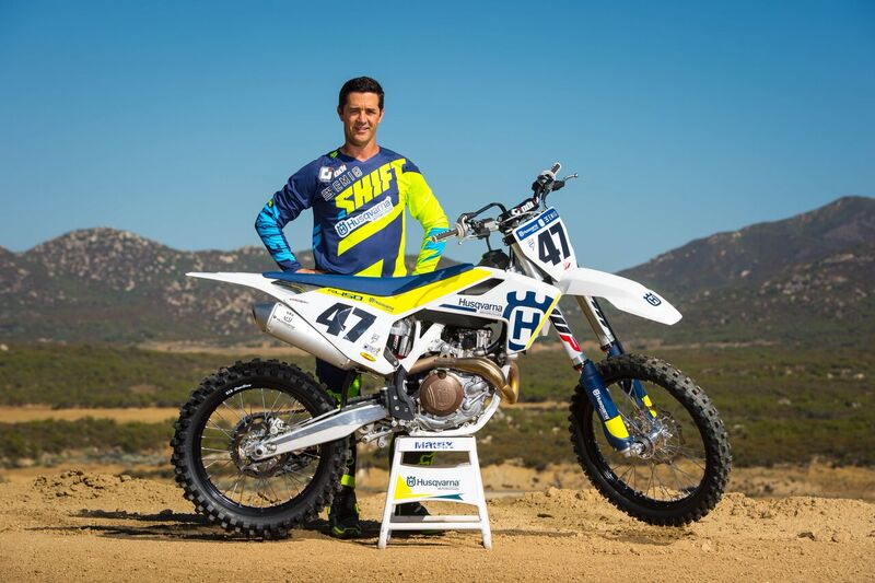 Jeff Emig with the 2017 Husqvarna FC 450_