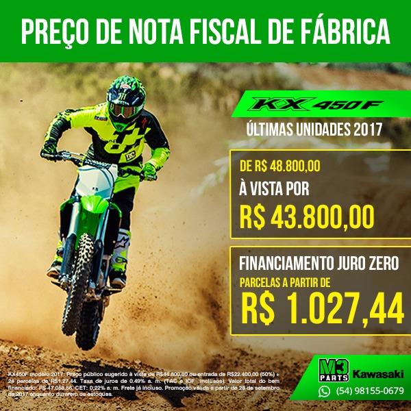 preços da KX250F